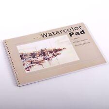 KÜNSTLER MALBLOCK DIN A3 mit 24 Blatt Aquarellblock, Zeichenblock 190 gsm