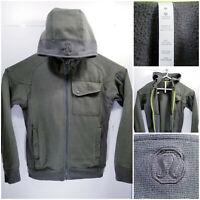 Lululemon Mens Medium Full Zip Hoodie Sweater Jacket Vented Heavy Green