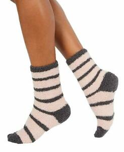 Charter Club Womens Metallic Striped Plush Socks