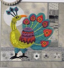 Peacock - applique & embroidery Block PATTERN - Sue Spargo