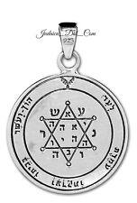 Tranquility & Equilibrium Seal Kabbalah Pendant Silver 925 King Solomon Amulet