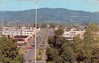 LONGVIEW WA BIRDSEYE VIEW OF BROADWAY~LANDSCAPED PLANNED CITY POSTCARD 1968 PMK