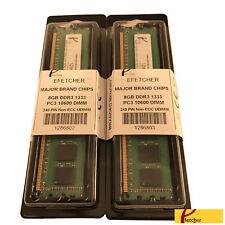 16GB (2 x 8GB) DDR3 1333 240 Pin 1.5V CL9 Non ECC UDIMM For Desktop Computers