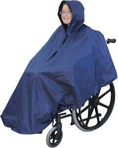 WATERPROOF WHEELCHAIR PONCHO COVER RAIN MAC CAPE MOBILITY UK SELLER
