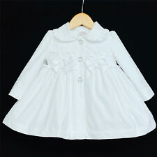 New Arrival Wee Me Baby Girl White Dimantee Long Sleeve Jacket Perfect Winter