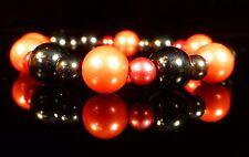 Rosso Nero Pearl Bracciale resina plastica