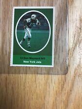 1972 Sunoco Don Maynard New York Jets Sticker Stamp