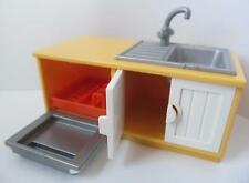 Playmobil Fregadero & Unidad de lavavajillas Amarillo Nuevo extras para Dollshouse Moderna
