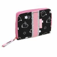 Pusheen Celebrity Black Zip-Around Clutch Purse Wallet - Pink Cat