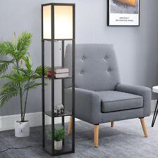 Modern Shelf Floor Lamp Soft Light 4-tier Open Shelves Storage Display