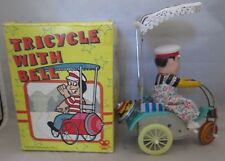 Tricycle With Bell Tin Wind-up toy In Original Box