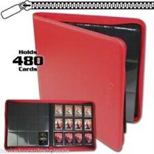 BCW Z-Folio RED 12 Pocket Zipper premium Binder Magic Yugioh Pokemon Vanguard
