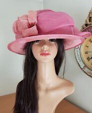John Lewis-Dramatic pink swirls derby hat - wedding/races