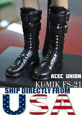 KUMIK1/6 Scale Black Widow Catwoman Black Long Boots FS-21 U.S.A. SELLER