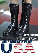 U.S. SELLER - KUMIK1/6 Scale Black Widow Catwoman Black Long Boots FS-21
