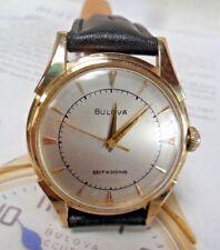 Clean Solid 14k GOLD 1953 Vintage Men's Bulova Self-Winding Automatic Watch Runs