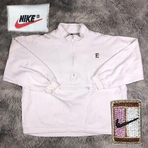 Vintage 1990's NIKE Women's Tennis Challenge Court Logo Anorak White Pullover L