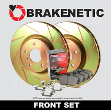 FRONT BRAKENETIC SPORT SLOTTED Brake Rotors + POSI QUIET Ceramic Pads BSK81355
