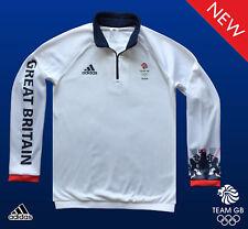 Adidas Team GB problema atleta de elite 1/2 Zip Fleece Sudadera Talla XL Pecho 44/46