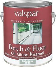 NEW VALSPAR CASE OF (2) GALLONS # 1033 LIGHT GRAY OIL GLOSS PORCH FLOOR PAINT