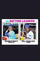 1977 Topps George Brett Bill Madlock Baseball Card #1 Kansas City Royals HOF