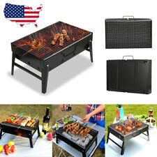 BBQ Barbecue Grill Folding Portable Charcoal Outdoor Camping Burner Patio Stove