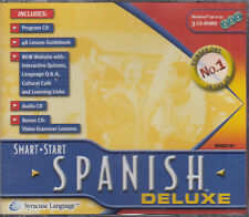 Spanish Deluxe 3CD Rom Learn Language Program Interactive Quizzes Grammar