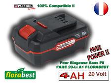 FLORABEST® 20V 4Ah Li-Ion BATTERIE PARKSIDE Plus de puissance pour FAHE 20 Li A1
