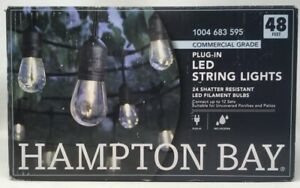 Hampton Bay 24-Light Indoor/Outdoor 48 ft. String Light with S14 LED Bulbss