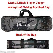 Portable Rod Bag Case Fishing Rod Reel Kit Fishing Tackle Waterproof Oxford Bag