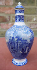 Wedgwood  - Vintage Blue & White Decanter for Humphrey, Taylor & Co