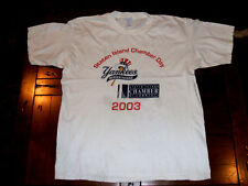 Staten Island Yankees 2003 Chamber Of Commerce Day White XL MiLB T-Shirt N.Y.