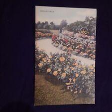 Vintage Postcard Scallop Circle Rock Garden, Sailor Tom's, Reading, Mass.
