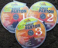 DOLLY PARTON COUNTRY 3 CDG DISCS CHARTBUSTER HITS KARAOKE 50 SONGS CD+G 5048