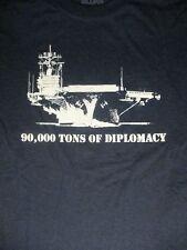 M blue 90,000 TONS OF DIPLOMACY t-shirt by GILDAN