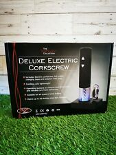 Deluxe Electric Corkscrew Automatic Cordless Wine Bottle Opener Foil Cutter UK