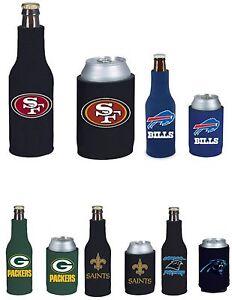 NFL Football Cooler Can & Bottle Beer Drink Holder Officially Licensed