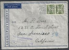 Netherlands covers 1941 cens Airmailcover to New York