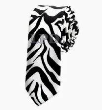 NEW Leopard Spotted Skinny Tie Animal Print NeckTie-Cheetah Print Spots Tan Tie