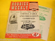 HOBBIES WEEKLY (INC PLANS) - COFFEE TABLE & FIRESCREEN - APRIL 14 1954