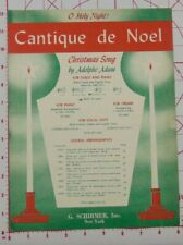 Cantique de Noel by Adolphe Adam Sheet Music For Piano/Vocal