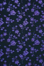Korsett Mieder Stoff Coutil Floral Jacquard feste Qualität 50 cm Schwarz Anemone
