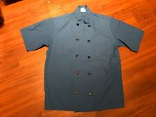 Fame Chef Double Breasted Short Sleeve Shirt Small Blue S, Lot of 3