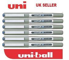 6 X Uni Ball Ojo Fina Colores Azul UB-157 Rollerball Pluma hecha en Japón