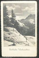 1934 Christmas German Postcard Vintage Real Photo