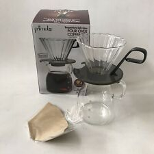 Primula Pour Over Coffee Set Borosilicate Glass Carafe Cone Filter Barista 20oz