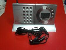 Mini Transistor Clock Radio Alarm Wetekom JW1506 Digital Clock FM Radio Good Con