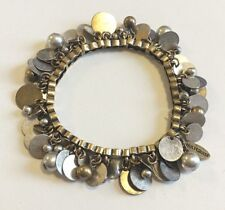 NEW VINTAGE HULTQUIST JEWELRY FLEXIBLE GOLD PLATED BRACELET BEADS METAL PLATES