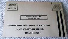 ORIGINAL, VINTAGE, 1950's, POSTCARD, CO-OPERATIVE INSURANCE SOCIETY LTD.