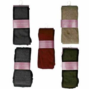 New Ladies Plain Black Colours Jennifer Anderton Smooth Knit Warm Winter Tights